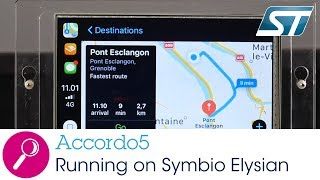 Accordo running with Symbio Elysian (STMicroelectronics, STA1295)
