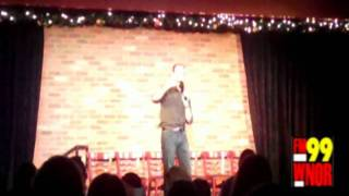 FM99 Rick Rumble onstage at the Virginia Beach Funny Bone