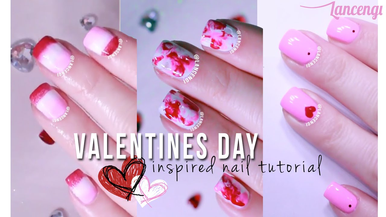 Diy Cute Easy Nail Art For Beginners 24 Valentines Day Pink Designs Youtube