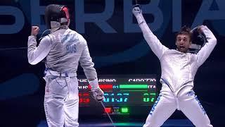 2018 P1 M F Individual Novi Sad SRB European Championships podium CHEREMISINOV RUS vs GAROZZO ITA