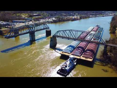 Clarksville Tennessee Liberty Park Area Aerial Footage