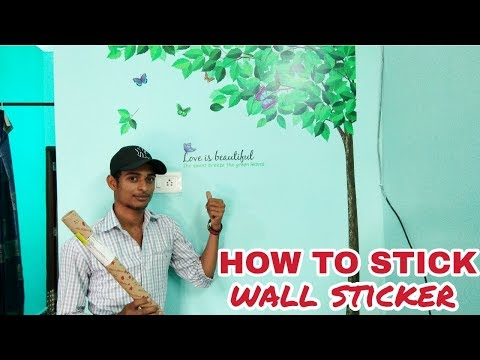 WALLSTICKER UNBOXING AND HOW TO STICK IT