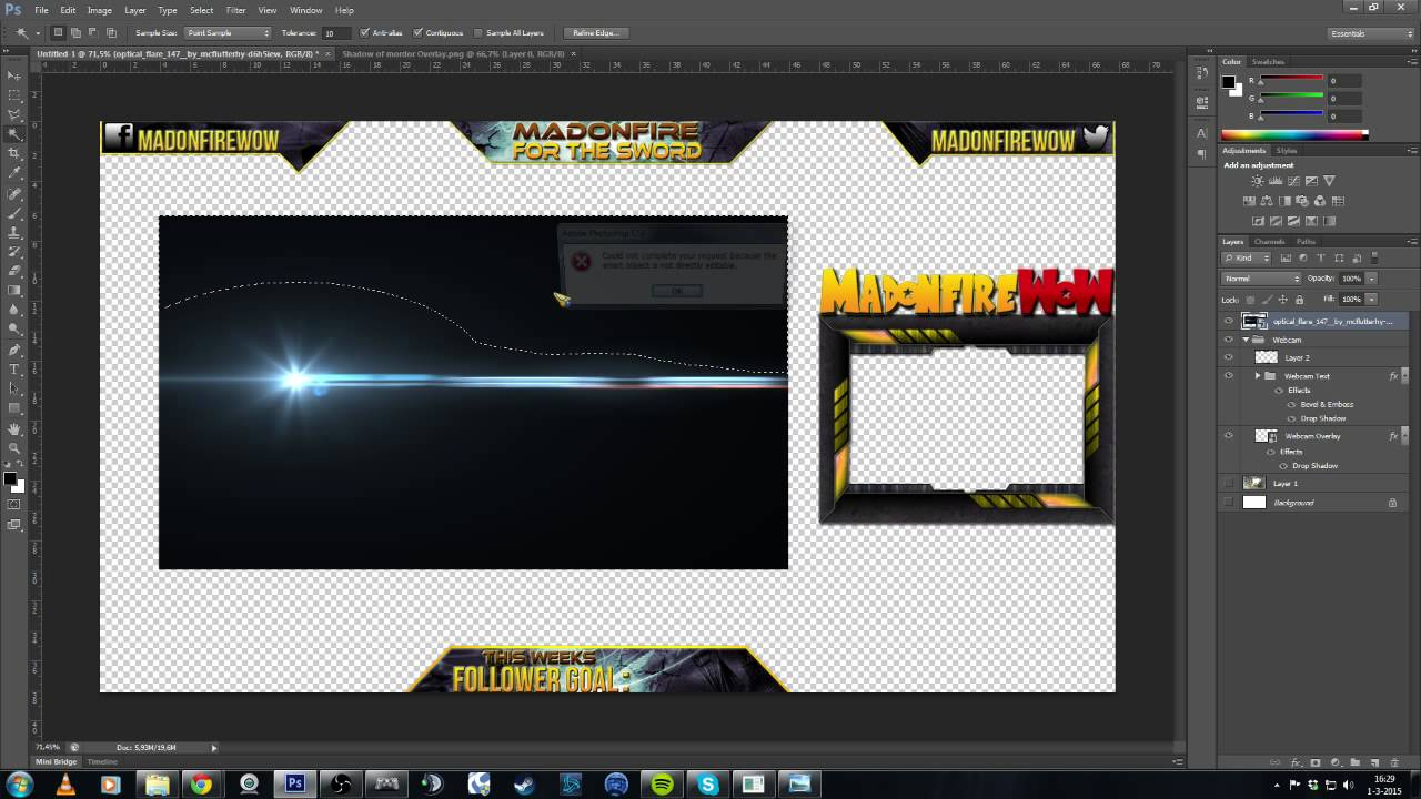 Photoshop Overlay Making For Dragonball Xenoverse Youtube