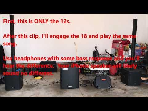 Fender Fortis F-18SUB sound demo + Turbosound IP2000