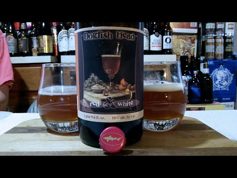 DogFish Head Red & White ✪ 2014 Vintage ✪ (10.0% ABV) DJs BrewTube Beer Review #1284