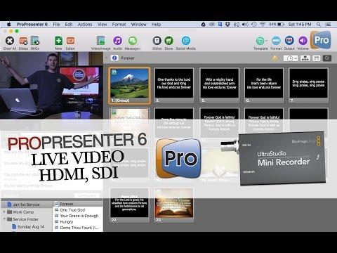 Live Video Feed/Capture in ProPresenter 6
