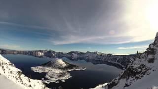 Snowshoeing 30mi Around Crater Lake in 20 Hours