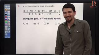 9) İlyas GÜNEŞ - Ardışık Sayılar TEST - II (TYT Matematik Soru Çözüm) 2019