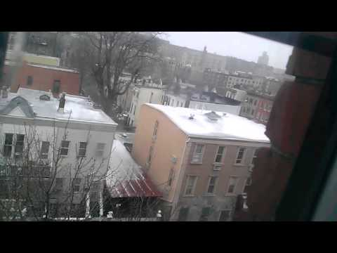 A snowstorm at 2330 washington avenue on 2/8/16