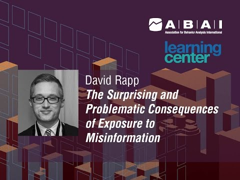 ABAI 42nd Annual Convention Learning Center Teaser: Rapp