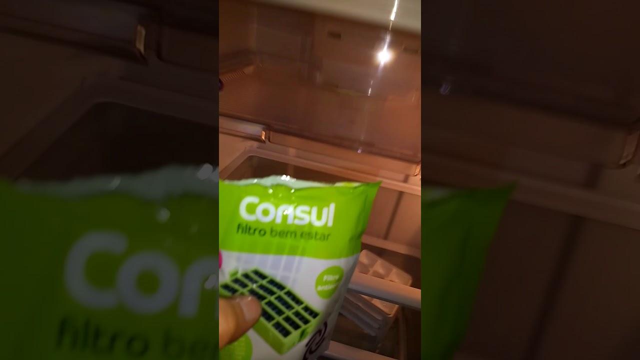 92737de5880c como trocar o filtro de ar bem- estar da geladeira Consul Frost Free ...