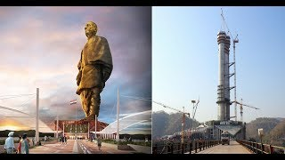 The world's tallest statue to be complete this year in India (2018 Construction Update)