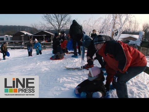 Janvoriaz station de ski éphémère en Ile-de-France / Janvry (91) - France 21 janvier 2017