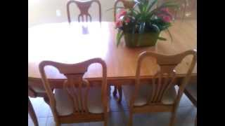 Dining room table, credenza, and buffet for sale $600 +PSN Miami Lakes