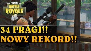 34 FRAGI! NOWY REKORD!! - FORTNITE BATTLE ROYALE