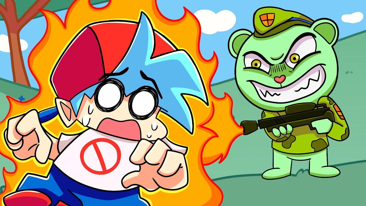 BOYFRIEND vs. FLIPPY?! Friday Night Funkin' Logic | Cartoon Animation
