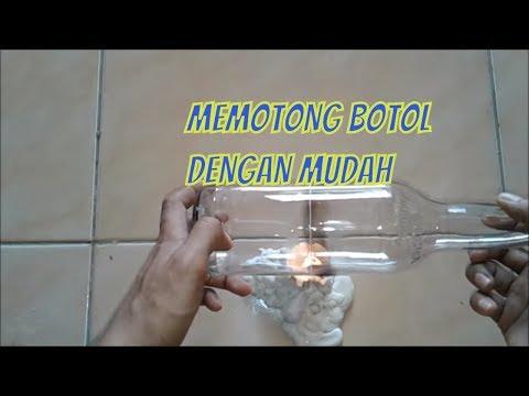 Cara Memotong botol Kaca dengan Mudah || How to Cut bottle Glass