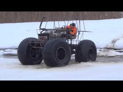 Испытания прототипа (вездеход ХИЩНИК-29070 шины 1600)