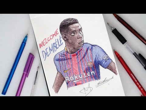 SKETCH SUNDAY #37 How To Draw Ousmane Dembele - FC Barcelona - DeMoose Art