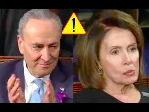 Chuck Schumer Claps for Trump After He Speaks of Unity But Nancy Pelosi is Pissed and Refuses!