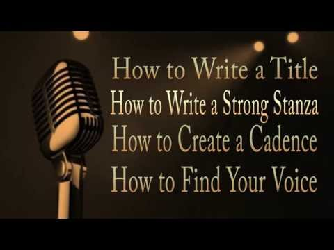 How To Write Poetry How To Write Stanza Part Of