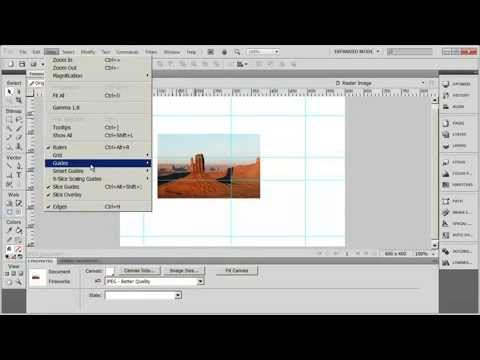 Tutorial: Adobe Fireworks CS5 for Beginners Lesson 7 - Using Guides, Rulers and Grids