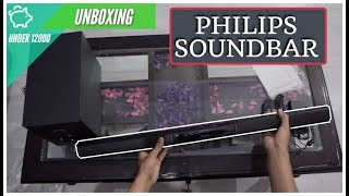 PHILIPS HTL2163B 12 BLUETOOTH SOUNDBAR SPEAKER WITH HDMI ARC UNBOXING UNBOXING 16