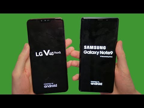 LG V40 vs Galaxy Note 9 Speed Test, Cameras & Speakers!
