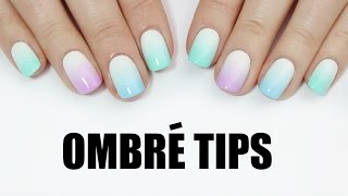 EASY ombre tip nail art!