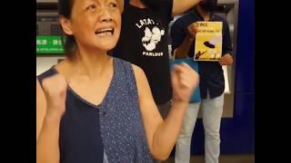 抗议元朗袭击事件一个月 港警驱散静坐行动示威者