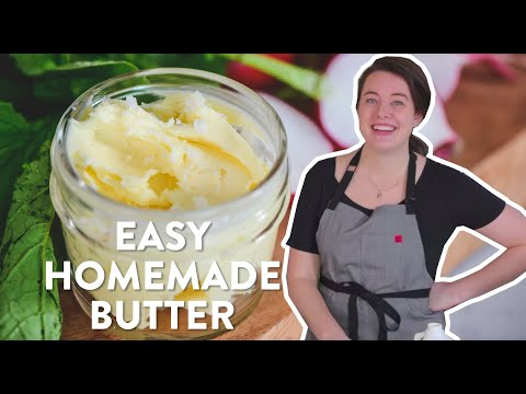 Make Butter at Home - It's So Easy