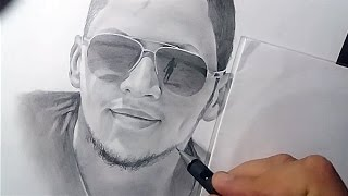 Drawing and shading and blending the face in pencil only | Abdou CH