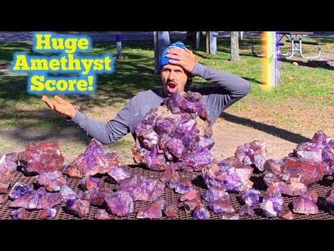 HUGE Amethyst Found In Canada! | NEW LOCATION! | Quartz Crystal Mining