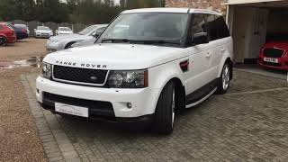 LAND ROVER RANGE ROVER SPORT SDV6 HSE RED FOR SALE IN FUJI WHITE