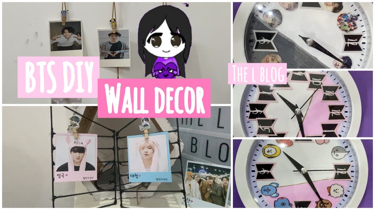 BTS DIY room decor 2020 - BTS wall decor diy - YouTube on Room Decor Bts id=59174