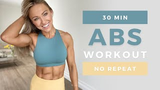30 Min DEFINED ABS WORKOUT at Home   No Equipment   No Repeat