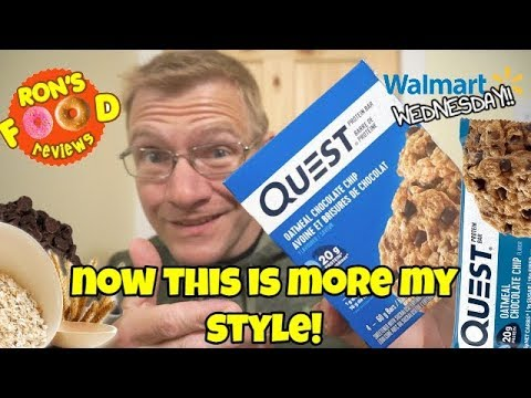 quest-oatmeal-chocolate-chip-protein-bar!!-walmart-wednesday!!-protein-bar-review!!