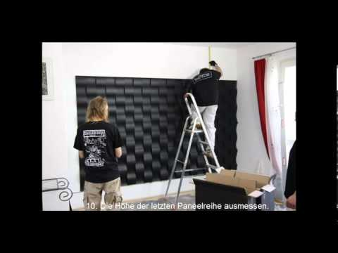 wandgestaltung einfache montage 3d wandpaneele loft. Black Bedroom Furniture Sets. Home Design Ideas