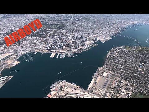 "MH-60S Seahawk Flight Over San Diego - HSC-8 ""Eightballers"""