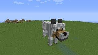 как построить волка и прирученного волка в minecraft