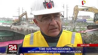 MML inicia trabajos de demolición de antiguo puente Circunvalación