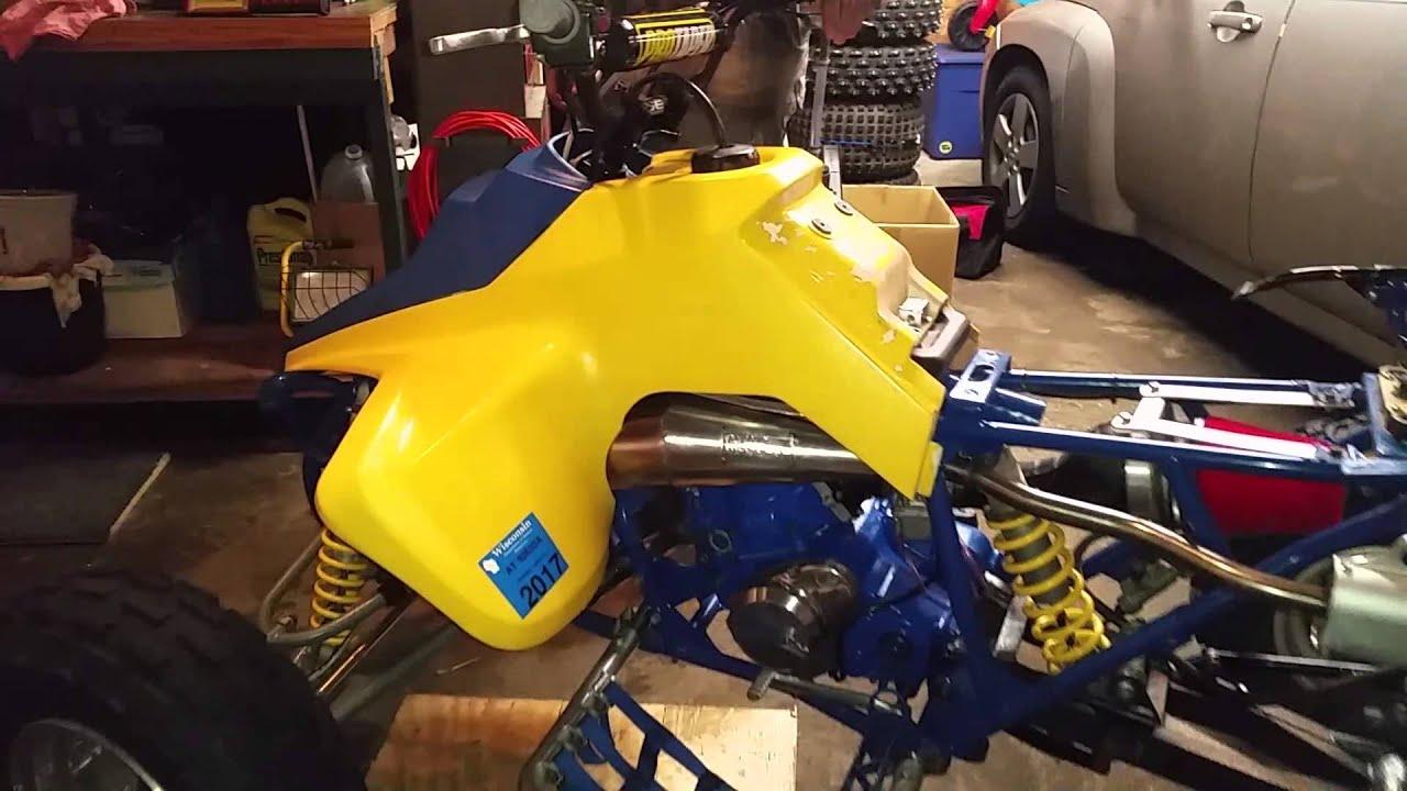 bartlett racing built 1992 suzuki lt250r quadracer first start