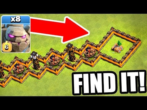 ALL GOLEMS vs THE HIDDEN SHRINK TRAP! IMPOSSIBLE.....OR NOT!? - Clash Of Clans