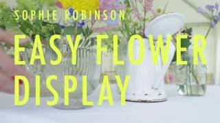 Quick and easy table flower display for summer parties or weddings