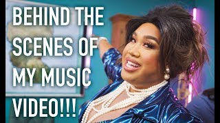 BEHIND THE SCENES OF MY FIRST MUSIC VIDEO!!! | PatrickStarrr