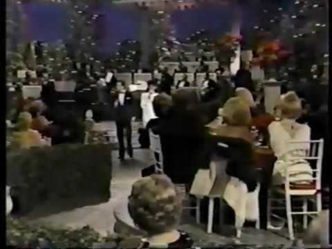 Lucy's birthday Lucie arnaz and desi Jr arnaz sings to her at the ecadmey awards