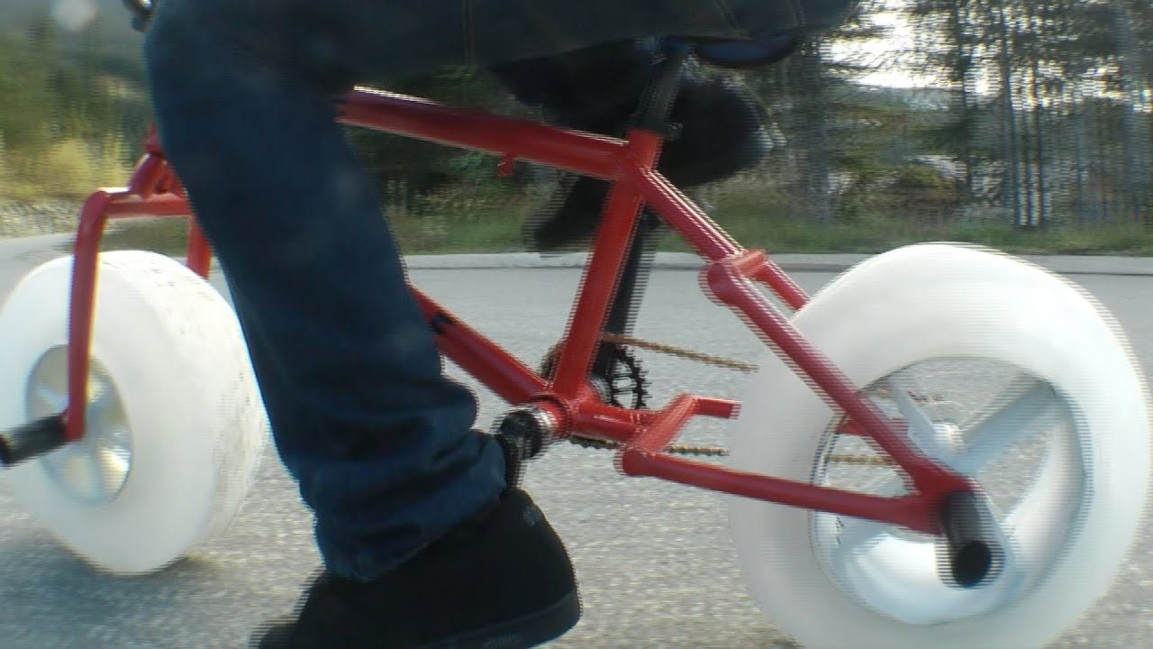 ICE BIKE The worlds first bike with wheels made of ICE - YouTube