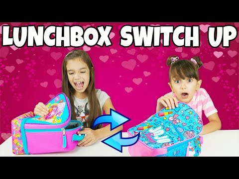 THE LUNCHBOX SWITCH UP CHALLENGE - Real Food vs Valentine's Day Treats