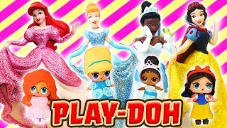 LOL Surprise Dolls Disney Princess Figurine Set and Dress Up! Featuring Treasure and Cinderella!