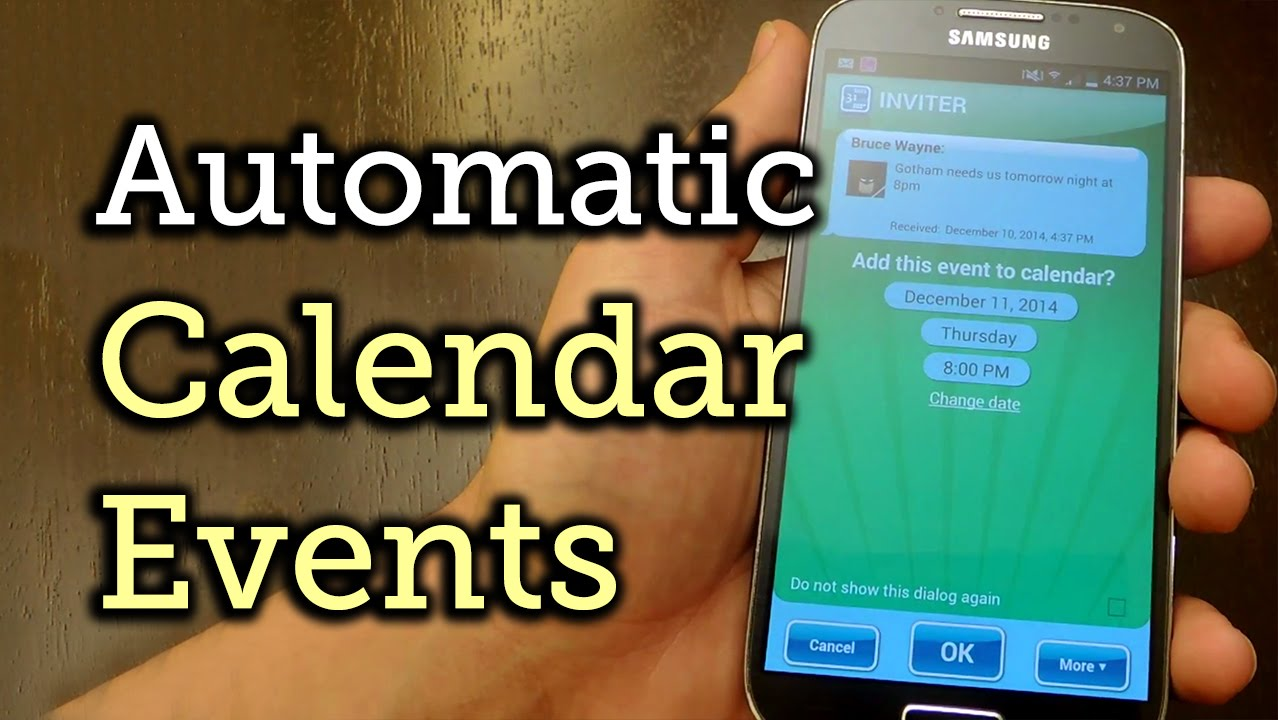 Turn Incoming Text Messages into Calendar Events on Android [How-To]
